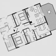 Grundriss Haus Seeschwalbe - Wohnung Schwalbennest