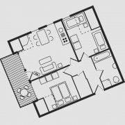 Grundriss Haus Seeschwalbe - Wohnung 12