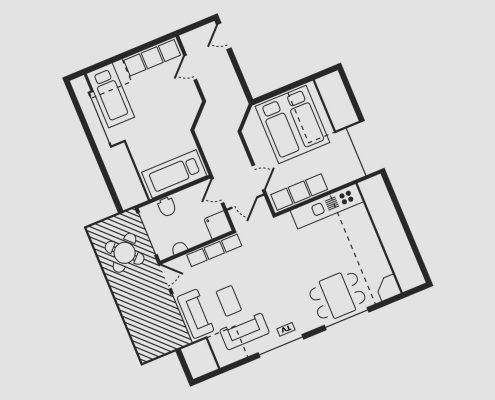 Grundriss Haus Seeschwalbe - Wohnung 13