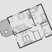 Grundriss Haus Seeschwalbe - Wohnung 14