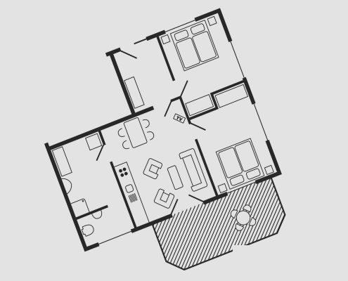 Grundriss Haus Seeschwalbe - Wohnung 15
