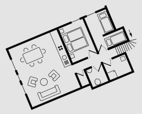 Grundriss Haus Seeschwalbe - Wohnung 6