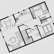 Grundriss Haus Seeschwalbe - Wohnung 8