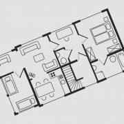 Grundriss Haus Seeschwalbe - Wohnung 9