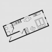 Grundriss Haus Seeschwalbe - Wohnung 1