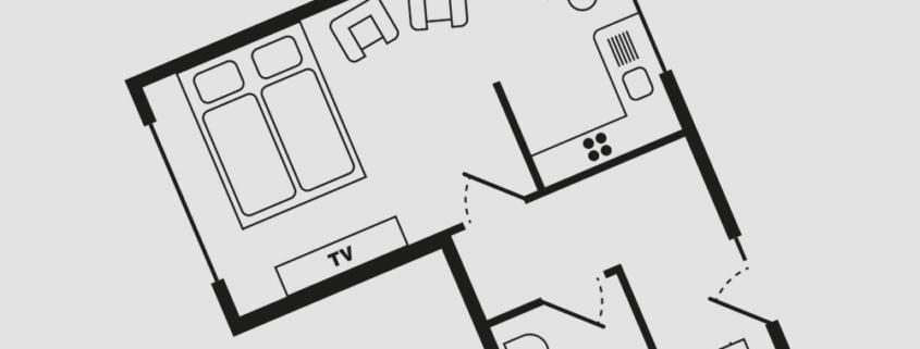 Grundriss Haus Seeschwalbe - Wohnung 11